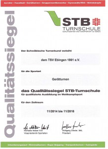 STB Turnschule Zertifikat